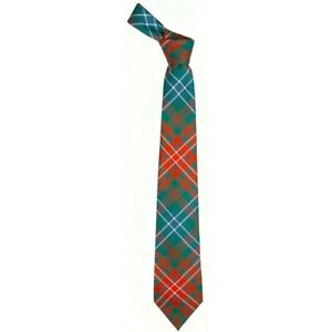 Boys Clan Tie All Wool Woven in Scotland Cornish National Tartan