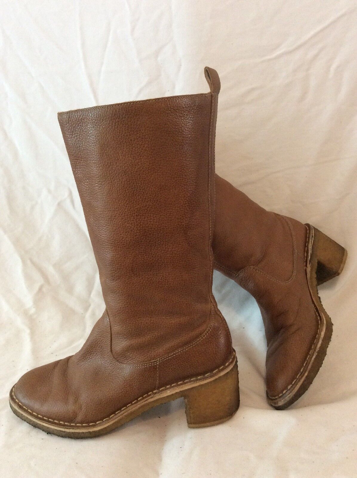 Design Edition For GAP Brown Mid Calf Leather Boots Size 38