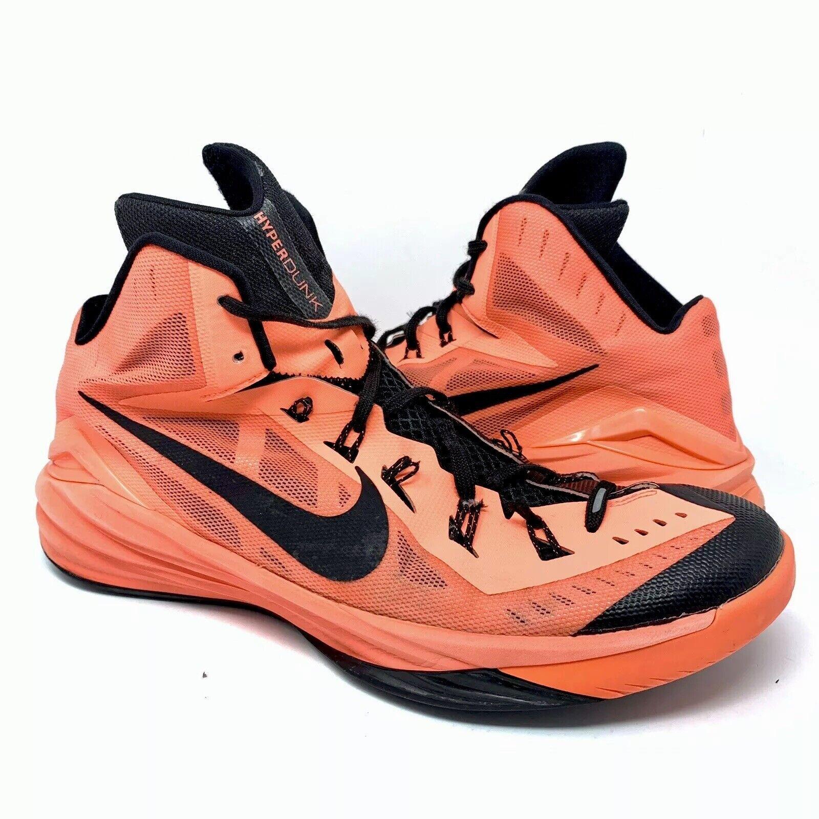 NIKE HYPERDUNK 2014 Men's Basketball shoes 853840-800 Bright Mango Black Sz 15