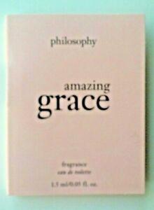 Philosophy AMAZING GRACE Eau De Toilette EDT Splash Sample Vial .05 oz/1.5mL New