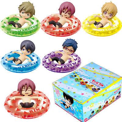 "Free! Iwatobi Swim Club Rin Macoto Haruka Nagisa Rei 2"" Mascot Figure 6pcs Set"