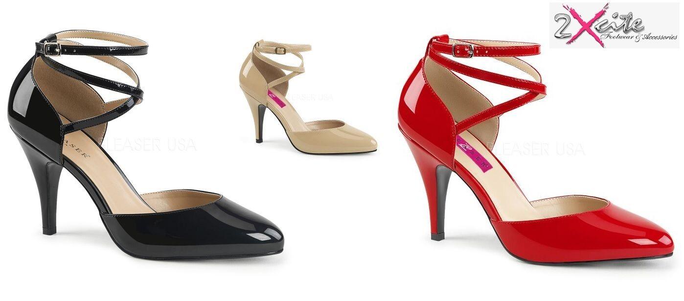 Pleaser sueño sueño sueño 408 Tacón Alto Zapatos Tribunal Drag Queen travestis Ancho Ajuste Damas  echa un vistazo a los más baratos