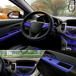 Blue-Trama-in-Fibra-di-Carbonio-Decalcomania-Avvolgere-in-Vinile-Dashboard-15-034-x39-034-Adesivo