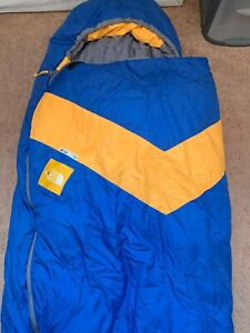 huge selection of d570d 94a0d Details about Vintage USA North Face Mummy Sleeping Bag VersaTech Yellow Tag
