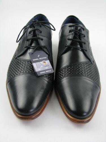 Daniel Hechter 811-22907 Business  grau//schwarz Leder Gr.42
