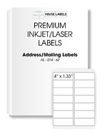 25 Sheets 350 Labels 4 X 1 1/3 Fast Peel White Address Mailing Labels 14 Up