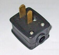 Plug, 12v Black, 2 Pin - Caravan, Camper, Motorhome, Boat, Horsebox    PO350