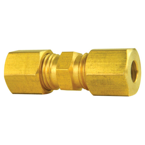 """Low Pressure Brass Compression Union 3//16/"""" Line Pack of 10"""