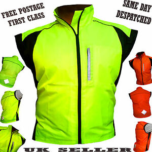 CYCLING-JACKET-SLEEVELESS-HIGHLY-VISIBLE-HI-VIZ-WATERPROOF-RUNNING-HORSE-RIDING