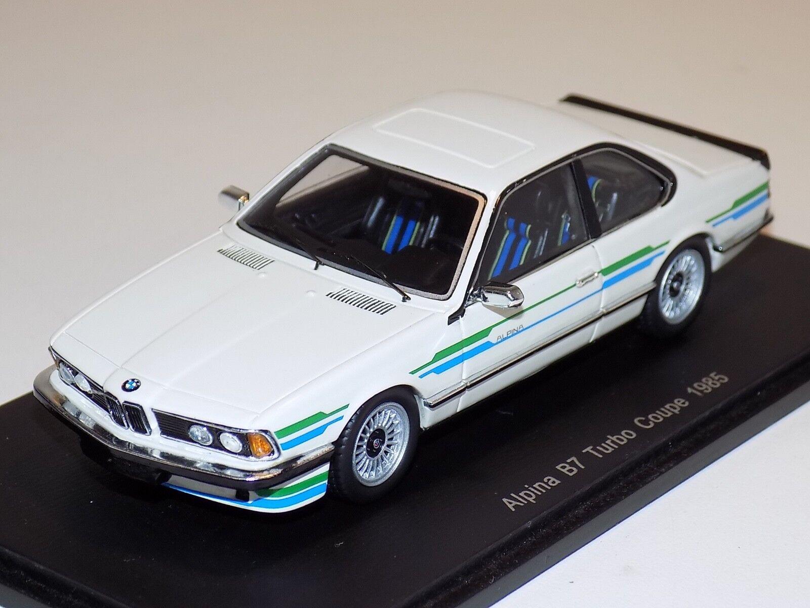 compra meglio 1 43 Spark Street 1985 BMW Alpina B7 B7 B7 Turbo Coupe in bianca S0742  qualità di prima classe
