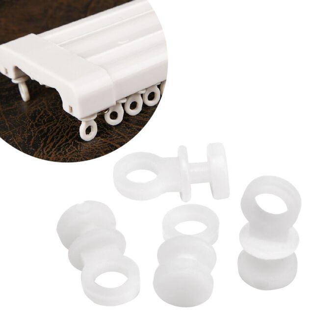 Gardinengleiter KP 50 St weiß Kunststoff Rolle mit Faltenhaken Gardinenhaken