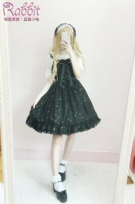 Japanese Mori Girl Cute Kawaii Lolita Sweet Vintage JSK Suspenders Dress #GH5