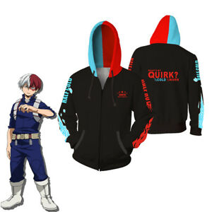 Anime My Hero Academia Hoodie Sweatshirts Todoroki Shoto Cosplay Jacket Coat