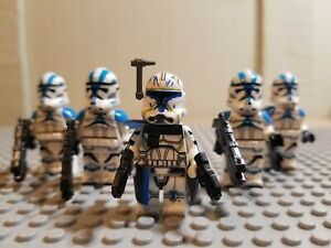 STAR-WARS-Lot-of-5-501st-Clone-Troopers-With-Commander-Rex-FREE-SHIPPING-FROM-US