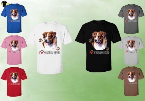 Aussie Australian Shepherd Dog 07743HD4 Australian Shepherd Unisex T-Shirt