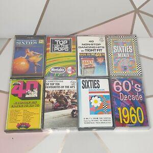 Best Sixties 60's music compilation 8 cassette tapes bundle Good condition