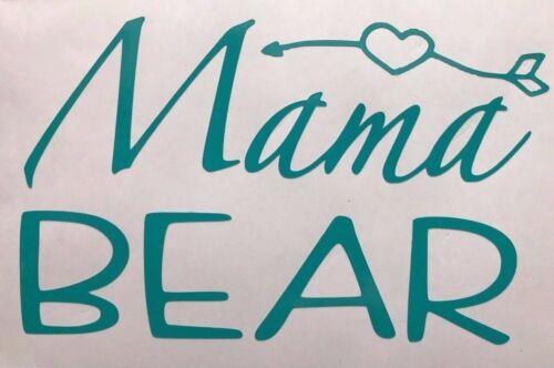 Mom Life Mama Bear Mommy Vinyl Decal Sticker Heart Arrow cup tumbler