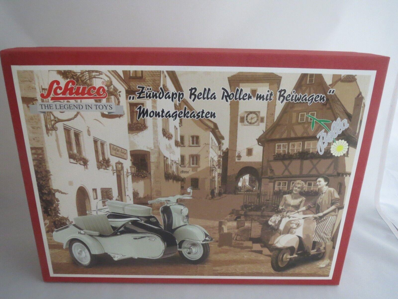 Schuco    06598  Montagekasten  Zündapp  Bella Roller  mit Beiwagen 1 10  OVP   5d1a9c