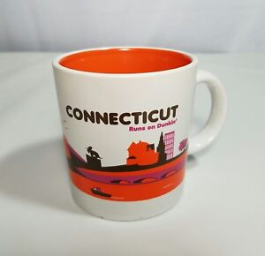 Dunkin Donuts Mug CONNECTICUT Skyline 2012 Scenery Collectible Coffee Cup