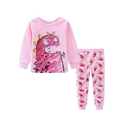 Tweet Twoo Baby/Toddler Monster 2-Piece PJ Set - Pink Marle