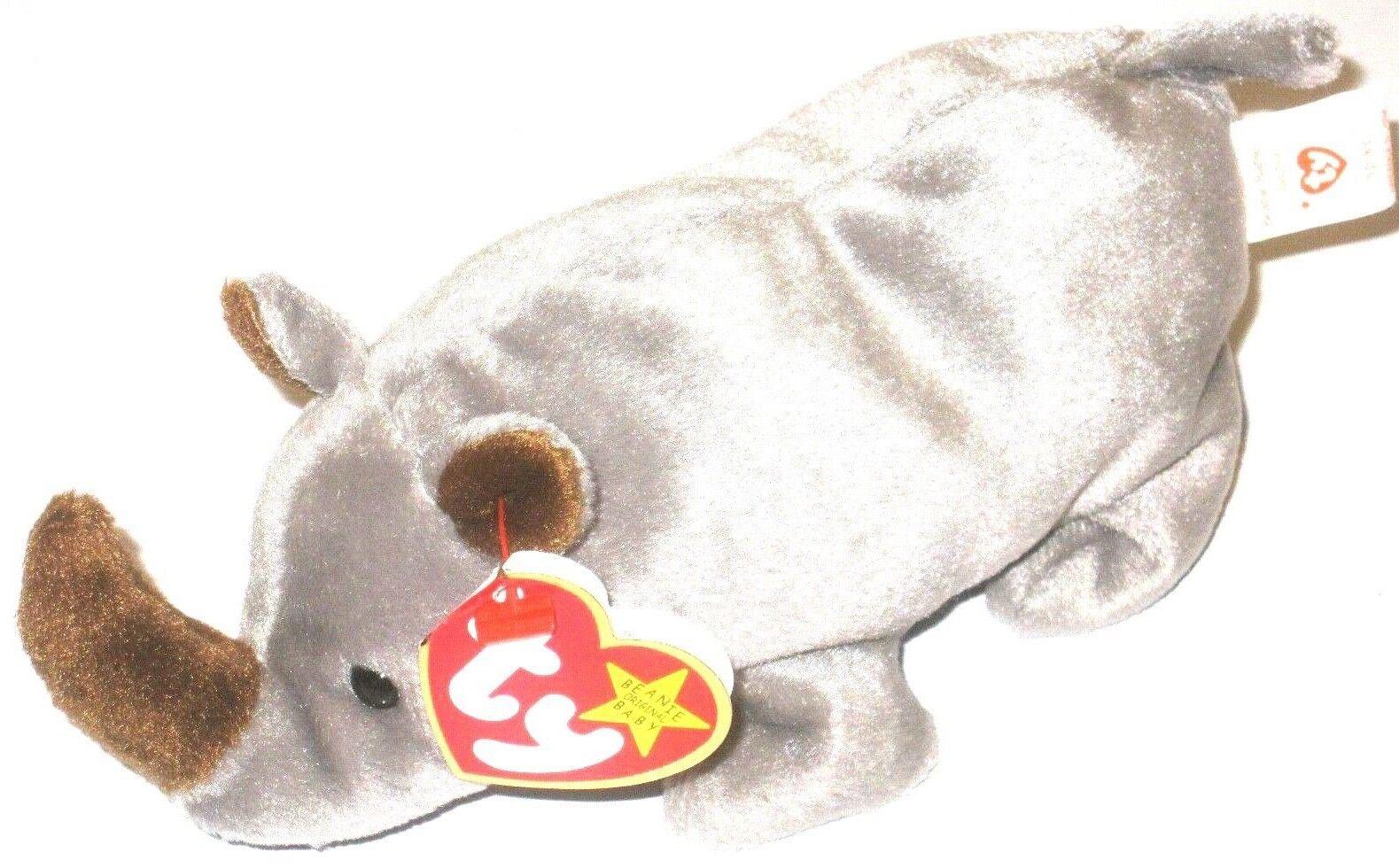 bfff16764e9 Ty Beanie Baby Spike Rhinoceros P E Pellets Retired Rare 1996 ...