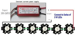 6x3-W-LED-With-Constant-Current-Driver-Kit-DIY-item
