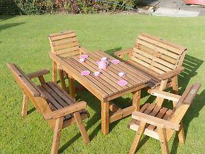 Image Is Loading Wooden Childrens Patio Set Outdoor Garden Furniture