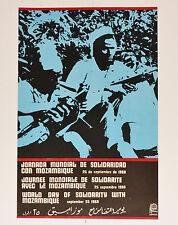1967 Cuban Political Poster.Plakat.Affiche.affisch.MOZAMBIQUE.Africa art.Mint!