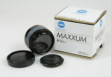 50MM F 1.7 MINOLTA / SONY MAXXUM AF LENS W/FRONT REAR CAPS   ORIGINAL BOX