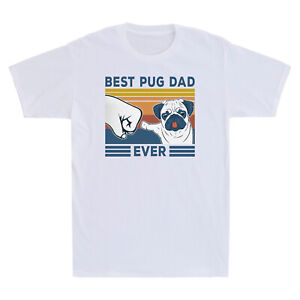 Best Boston Terrier Dad Ever Funny Dog Lover Vintage Men/'s T-Shirt Cotton Tee
