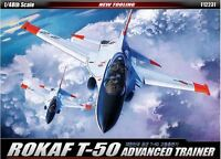 Academy 1/48 ROKAF T-50 Advanced Trainer Aircraft Plastic Model Kit Decal 12231