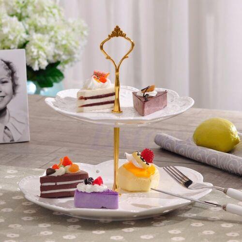 2//3 Tier Stainless steel Round Cupcake Stand Birthday Wedding Cake Display Tower