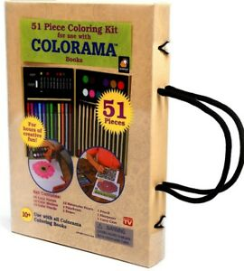 Image Is Loading Coloring Kit Colorama Books 51 Pc Art