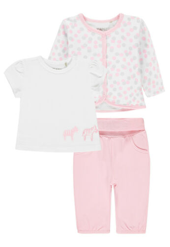 Kanz® Baby Mädchen 3 tlg Hose 62-74 F//S 2020 NEU! Set Sweatjacke+T-Shirt