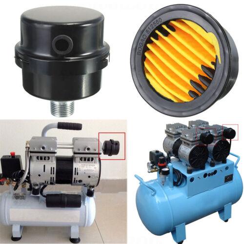 3//8BSP 16mm Thread Air Compressor Intake Filter Muffler Silencer Black Metal S2