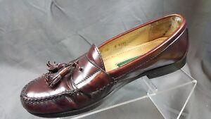c1efe3a9b0c Image is loading Cole-Haan-3507-Burgundy-Leather-Tassel-Loafers-Men-