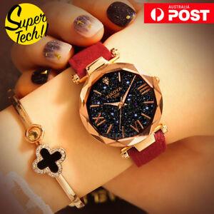 Fashion-Women-Starry-Sky-Watch-Dress-Watches-Leather-Band-Quartz-WristWatch