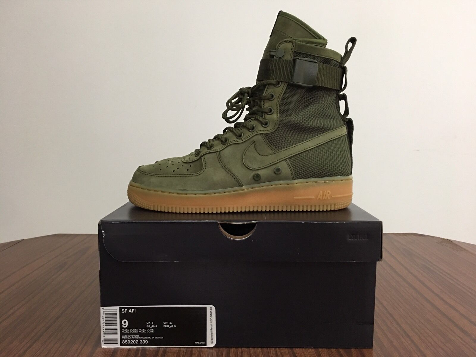 NEW Nike Air Force One 1 AF1 High Special Field SF  Faded Olive  - 859202339