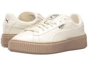 puma basket platform beige
