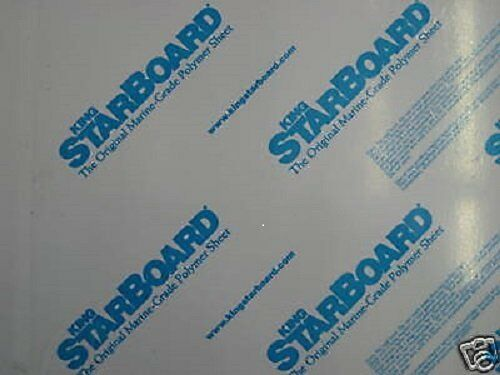 """1//2/"""" Thick Black Starboard 8.5/"""" x 12/"""" HDPE Plastic for Marine Use"""