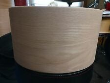 14x7 solid steambent red oak snare drum shell by Erie drums