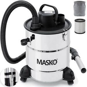 MASKO-Aschesauger-Kaminsauger-20L-mit-Motor-HEPA-Filter-Kamin-Asche-Sauger-kamin