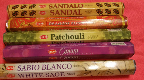 Hem Incense Stick Set 5 x 20 = 100 Sticks Wicca Mixed Scents Free Shipping