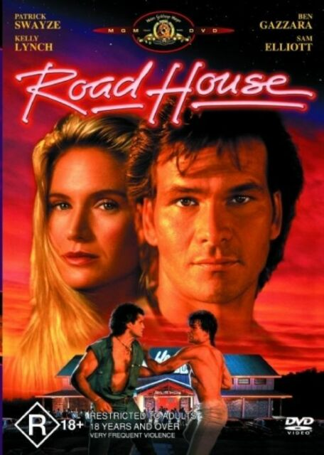 Road House DVD ROADHOUSE PAL REGION 4 vgc  PATRICK SWAYZE  t1