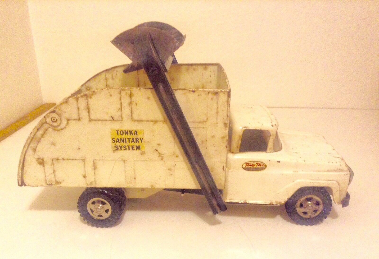 Sistema sanitario Vintage 1960 Tonka Camión, Raro Original Acero Prensado