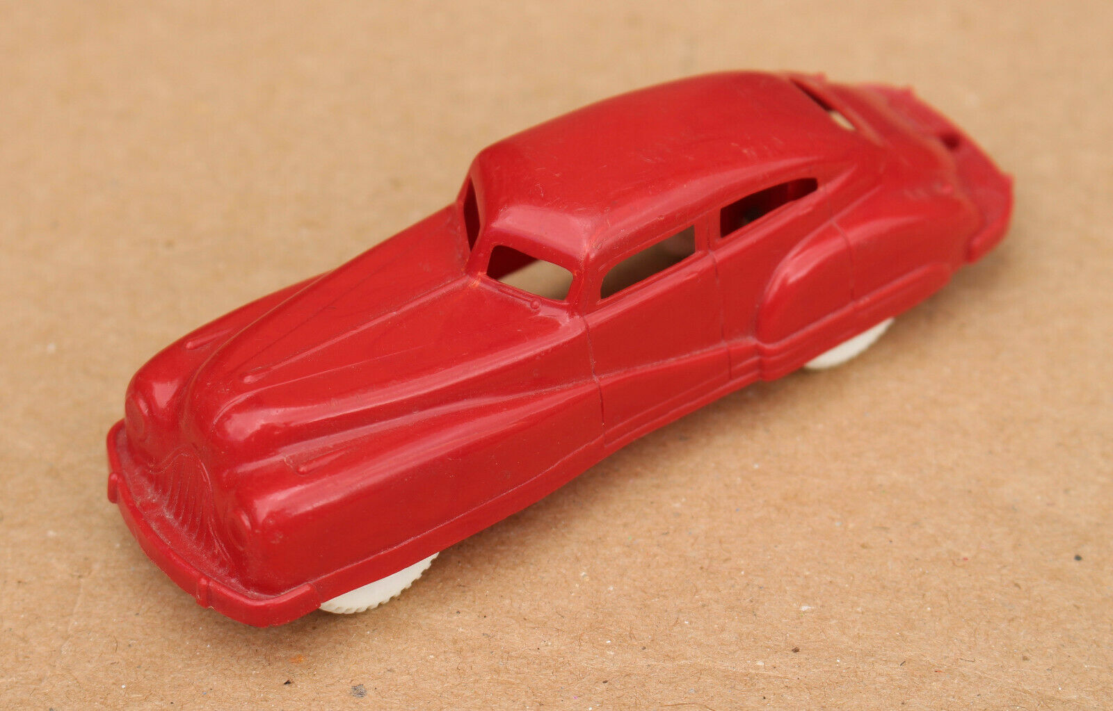 Antique ACME Hard Plastic & Rubber Tire Red Car Toy Art Deco Rare 3.5  USA 133