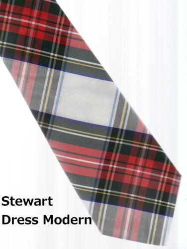 Tartan Tie Clan Stewart Dress Scottish Wool Plaid