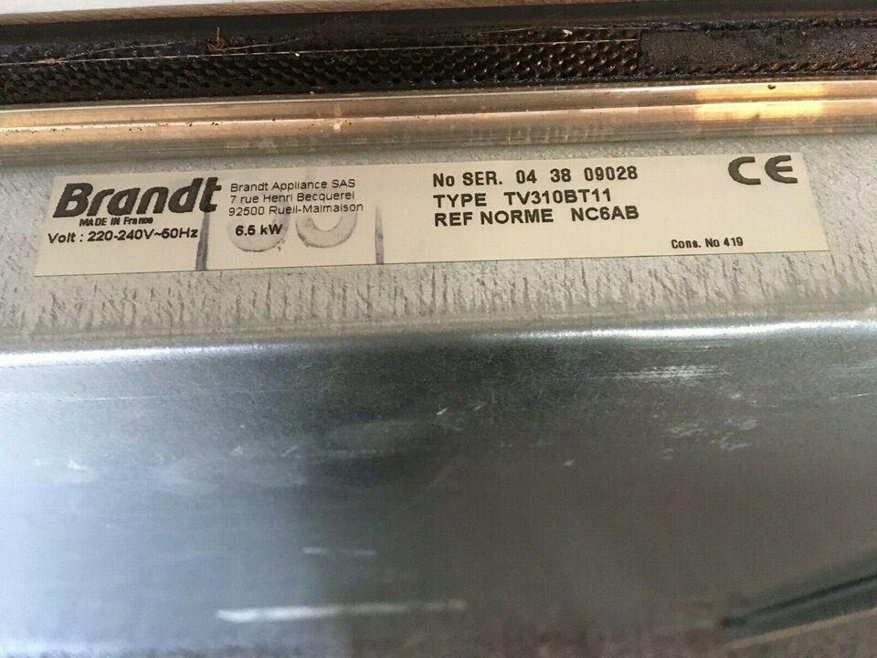 Glaskeramisk kogeplade, Brandt 310BT11, b: 58 d: 51 h: 6