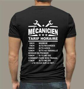 t-shirt personnalisé mécanicien auto voiture mécanique cadeau humoristique T120