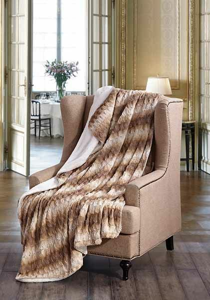 HONEY TWIST Faux Fur Sherpa Luxury Throw Light Weight Blanket 50 in x 70 in